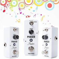 Portable Mini Guitar Phaser Pedal - Pure Analog Phaser Effect - Warm Plump Sound