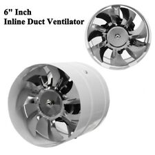 6'' Inline Duct Booster Exhaust Fan Ventilator Ventilation Hydroponic Vent Air