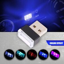 Mini USB Blue LED Car Interior Light Neon Atmosphere Ambient Lamp FH