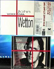 John Wetton - Voice Mail (CD, 1994, Pony Canyon, Japan w/OBI) PCCY-00573 RARE