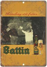 "Battin Beer Vintage Man Cave Décor Ad 10"" x 7"" Reproduction Metal Sign E251"