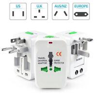 US to EU Europe & Universal AC Power Plug Worldwide Travel Adapter Converter NEW
