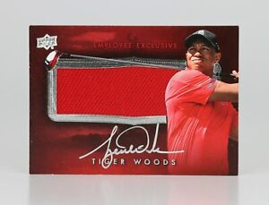 2014 Upper Deck Employee Exclusive Golf Tiger Woods Tournament Material Auto