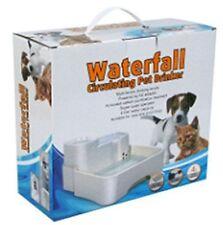 LED Fuente de filtro de agua potable para mascotas perro gato Bebedero Automático alimentos Tazón redondo