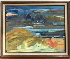 Vintage Abstract Landscape Oil Painting