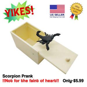 Prank Spider/Scorpion Horror Scare Box Hidden in Case Trick Play Joke Gag Toys