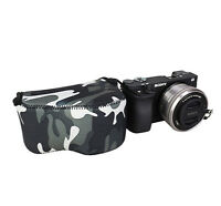 Camouflage Camera Pouch Case Bag fits Sony A6500 A6400 A6300 A6000 +16-50mm Lens