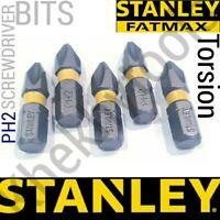 5x Stanley Fat max PH2 Torsion Screwdriver Bit fits Makita DeWalt Impact Driver