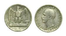 pcc1614_14) Regno Vittorio Emanuele III (1900-1943) Lire 5 Aquilino 1926 difetti