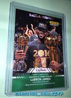 2016 Panini Instant NBA Finals Lebron James #15 MVP Serial Number 17 of 25 GREEN