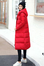 New Womens Long Puffer Jacket Padded Coat Parka Warm Thick Outwear Hooded P09