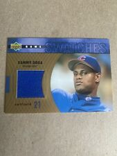 SAMMY SOSA 2002 UPPER DECK GAME SWATCHES JERSEY RELIC #HJ-SS CUBS ~FREE SHIPPING