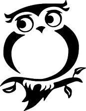 Cute Owl Bird Car,Van Camper Bonnet Window Wall Sticker LSB07 Small