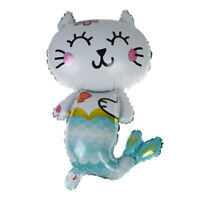 Cat fish mermaid foil Balloons Birthday party Baby shower Decorations animal  TS
