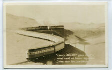 SP Railroad Train Daylight Horseshoe Curve San Luis Obispo CA RPPC postcard