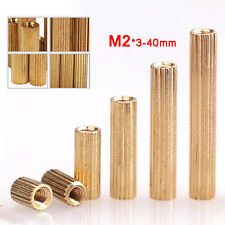 M2 Brass Round Female to Female Pillars PCB Threaded Standoff Spacers Connector