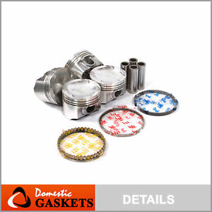 Pistons and Rings fit 99-01 Mazda Protege 1.6L DOHC 16V ZM