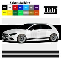 Side Stripe Stickers Graphics For Mercedes Benz A Class AMG Edition 1 Merc A45
