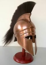 Medieval Greek Corinthian Helmet With Plume Armor Knight With Wooden Stand TB38