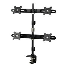 """Amer Mounts Clamp Based Quad Monitor Mount for four 15""""-24"""" LCD/LED Flat Panel"""