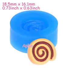 GEB014 18.5mm Swiss Roll Silicone Mold Cake Mold Resin Polymer Clay Baking Tools