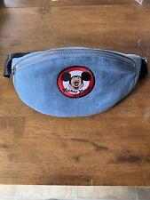 Disney Mickey Mouse Club Logo Denim Travel Pack Hip/Waist Bag Fanny Pack Nwt