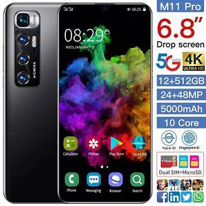 M11 Pro Smart Phone  6.8 Inch Mobile Phones 12+512GB 24+48MP 5000mAh