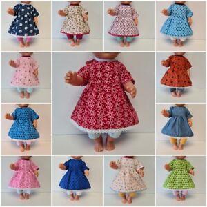 Handmade Puppenkleidung Kleiderset div. Motive für  40 bis 43cm Babypuppen - Neu