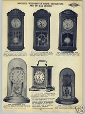 "1938 PAPER AD Westminster Chime 30"" Wall Clock Regulator 8 Eight Day"