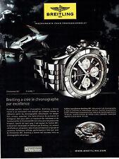 Publicité Advertising 088  2010   montre Breitling  chronomat B01