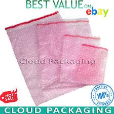More details for bubble wrap bags pouches pink anti static envelopes *full range*