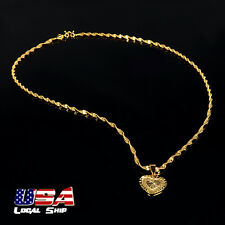 New Fashion Women Jewelry 18K Gold Filled 2 Heart Pendant Chain Necklace Gifts