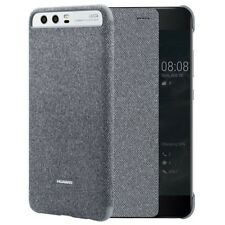 Funda Tipo Libro con Ventana Original para Huawei P10 Plus (Smart View) Gris Cl