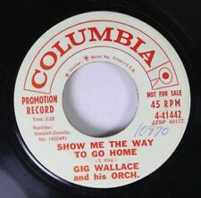 Rock 45 Gig Wallace And His Orch. - Show Me The Way To Go Home / Rockin' On The