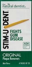 Stim-U-Dent Plaque Removers Mint 100 Each X 5 = 500 picks
