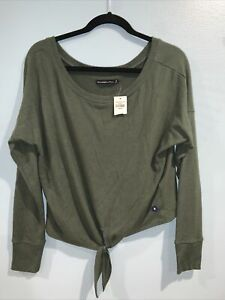 New Abercrombie Fitch Cotton Blend knot knit light weight sweater NEW SZ M #0980