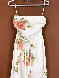 Morning Mist white floral Playsuit Romper Full Leg size 10