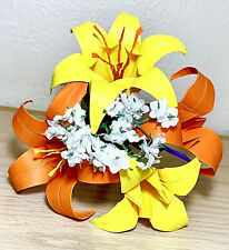 Origami Paper Lily bouquet flowers Centerpiece birthday holiday gift