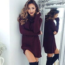 Women Cowl Neck Loose Long Sleeve Fall Winter Oversize Sweater Jumper Shirt Tops