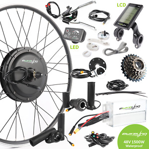 ebikeling Waterproof 48V 1500W 700c Direct Drive Rear e-Bike Conversion Kit