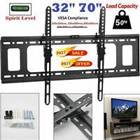 """TV Wall Bracket Mount Tilt Slim For 32 40 42 50 55 60 65 70"""" Inch Plasma LCD LED"""
