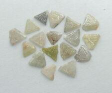 Natural Loose Diamonds Rough Uncut Triangle Mix Color 3.00 to 4.00 MM 1.00 ct J1