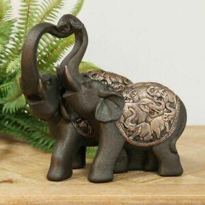 NEW Hestia Bronze Effect Elephant Ornament / Figures - 3 Different Models
