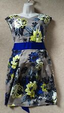 Floral blue sash tie dress winter Christmas party Wedding, evening, prom 10 / 36