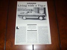 SUNBEAM TIGER  - ORIGINAL 1990 ARTICLE