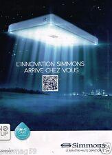Publicité advertising 2012 Les Matelas Simmons