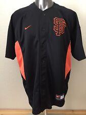 NIKE MLB Genuine San Francisco Giants Jersey Shirt Men's XL Black/Orange EUC