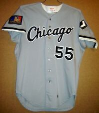 CHICAGO WHITE SOX RON TINGLEY GAME WORN ROAD BUTTON-DOWN MLB JERSEY