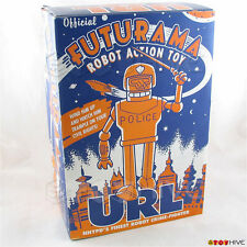Futurama URL official tin wind-up robot crime fighter NNYPD police figure toy
