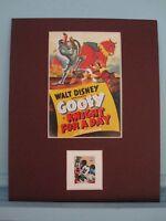 Walt Disney's Goofy & his own Stamp
